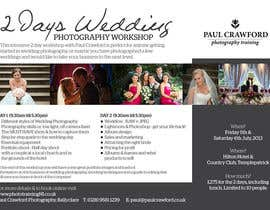 #22 untuk Design a Flyer for my wedding photography workshops oleh Quicketch