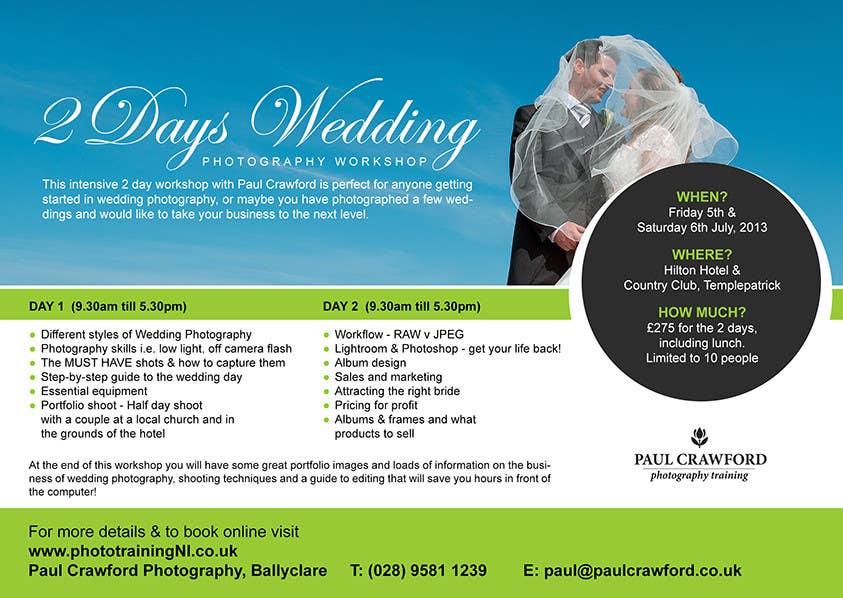 Bài tham dự cuộc thi #                                        23                                      cho                                         Design a Flyer for my wedding photography workshops