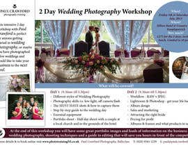 #29 cho Design a Flyer for my wedding photography workshops bởi CBDesigns101