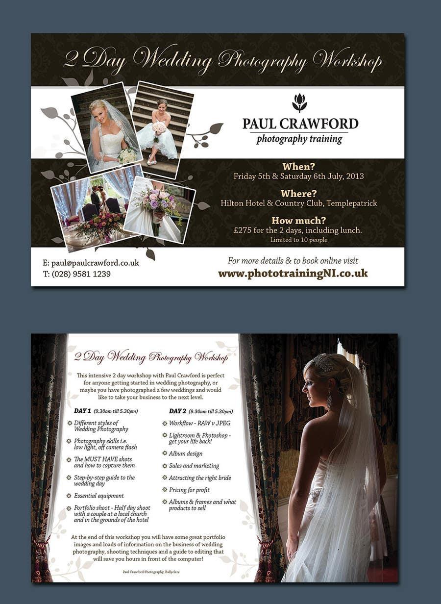 Bài tham dự cuộc thi #                                        16                                      cho                                         Design a Flyer for my wedding photography workshops
