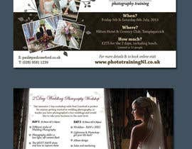 #16 untuk Design a Flyer for my wedding photography workshops oleh ninasancel