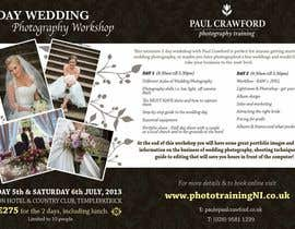 #33 cho Design a Flyer for my wedding photography workshops bởi ninasancel