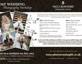 #38 untuk Design a Flyer for my wedding photography workshops oleh ninasancel
