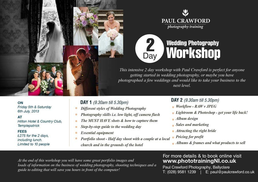 Bài tham dự cuộc thi #                                        35                                      cho                                         Design a Flyer for my wedding photography workshops