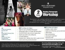 #35 untuk Design a Flyer for my wedding photography workshops oleh earlybirdvw