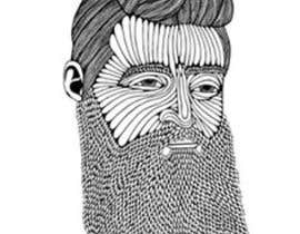 #57 cho Illustrate a tough manly masculine bearded rough FACE bởi Param5