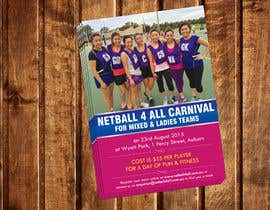 dinesh0805 tarafından Design a Flyer for Netball Carnival için no 10