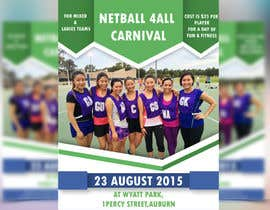 #20 cho Design a Flyer for Netball Carnival bởi ms471992
