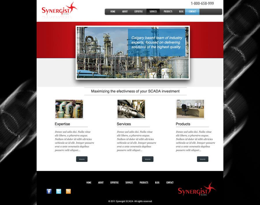 Contest Entry #15 for Wordpress Theme Design for Synergist SCADA INC
