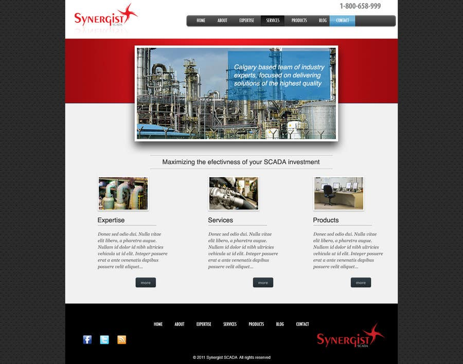 Contest Entry #                                        41                                      for                                         Wordpress Theme Design for Synergist SCADA INC