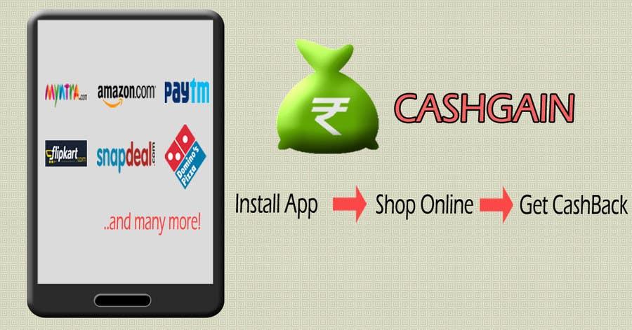 Penyertaan Peraduan #2 untuk Design a Coverpage & Banner for Cash Gain App