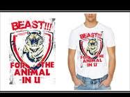 Graphic Design Kilpailutyö #4 kilpailuun Design a Mens or Womens MMA style T-Shirt