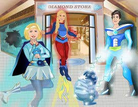 #59 untuk Illustrate Something for Birthday Present - 3 real people turned into cartoon heroes oleh GraphicArtStudio