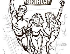 #21 untuk Illustrate Something for Birthday Present - 3 real people turned into cartoon heroes oleh arzart