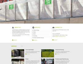 #40 untuk Design a Website Mockup for Fortress Fencing oleh priyabrataeee