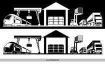 Bài tham dự #49 về Illustrator cho cuộc thi illustrate flow of trains and trucks