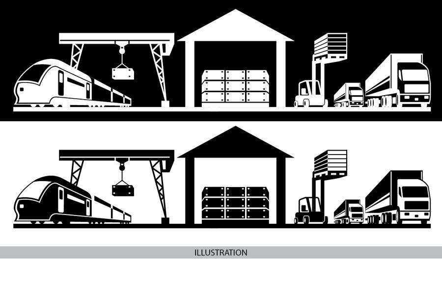 Bài tham dự cuộc thi #49 cho illustrate flow of trains and trucks