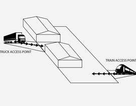 #12 untuk illustrate flow of trains and trucks oleh jessebauman