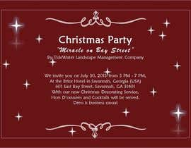 #88 cho Design for a Print Invitation to a Christmas Party in July in Savannah, GA bởi rroshko