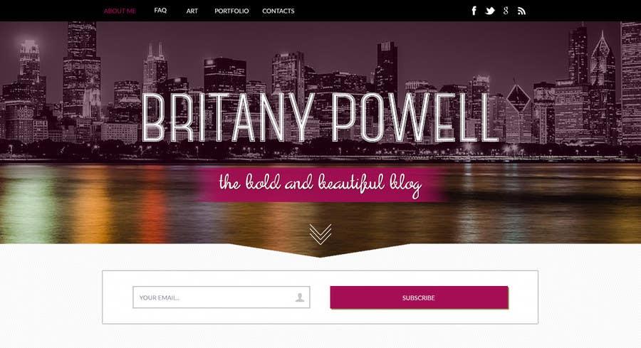Kilpailutyö #24 kilpailussa Design a Blogger Landing Page