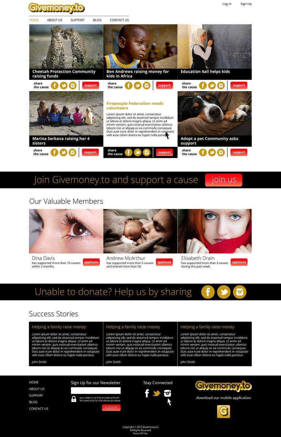Inscrição nº 4 do Concurso para Develop a Corporate Identity for Givemoney.to