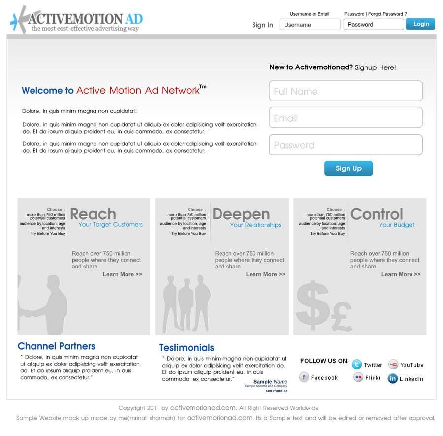 Konkurrenceindlæg #                                        1                                      for                                         Website Design for Active Motion Ad