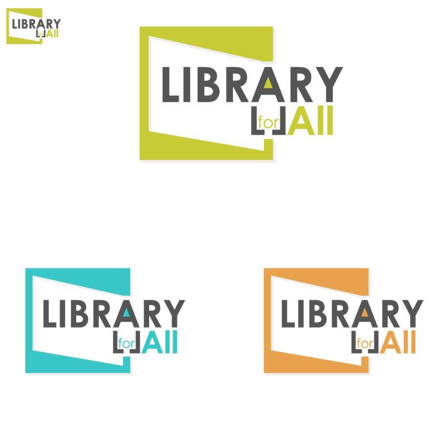 Penyertaan Peraduan #245 untuk Design a Logo for the Library For All application!