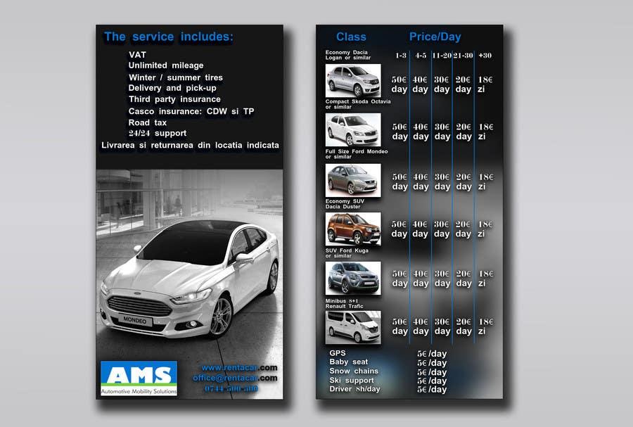 Kilpailutyö #8 kilpailussa Design a Flyer for AMS RENT A CAR