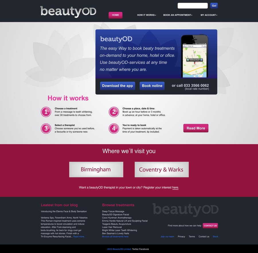 Contest Entry #4 for Improve our existing design for homepage