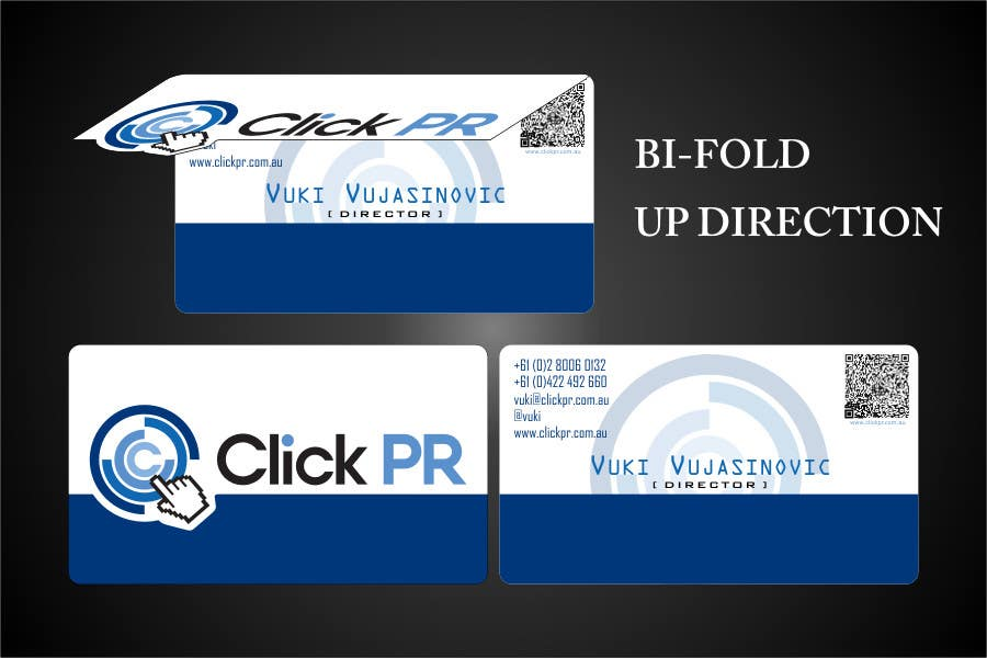 Contest Entry #51 for Business Card Design for Click PR