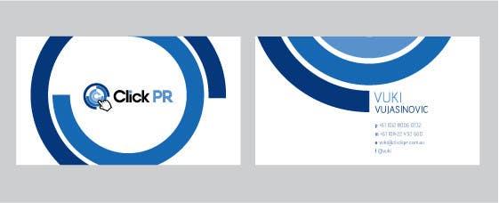 Contest Entry #                                        54                                      for                                         Business Card Design for Click PR