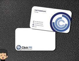 nº 194 pour Business Card Design for Click PR par elindana