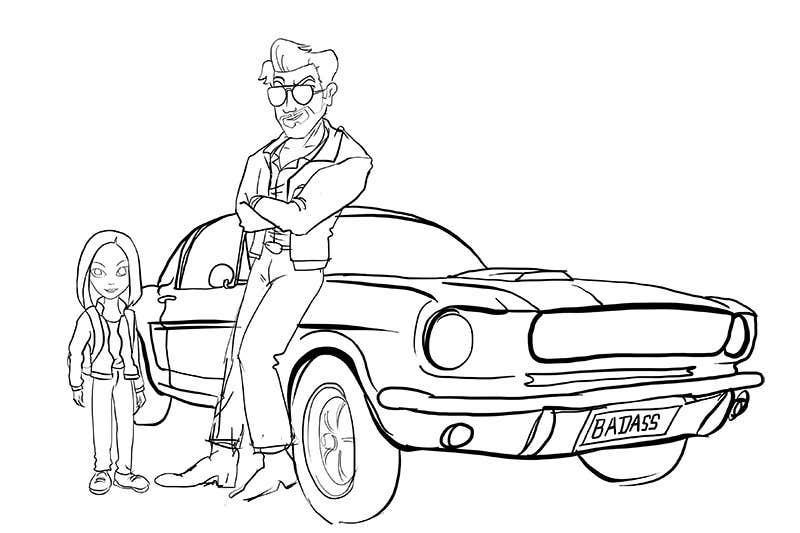 Inscrição nº 1 do Concurso para Deuce and Ash Car Pose