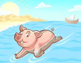 #20 for Illustrate Something for a swimming pig.. af thikufa