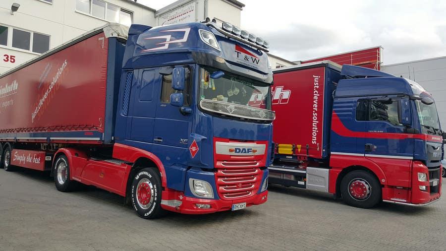 Penyertaan Peraduan #18 untuk Alter some images -- add logo on trucks
