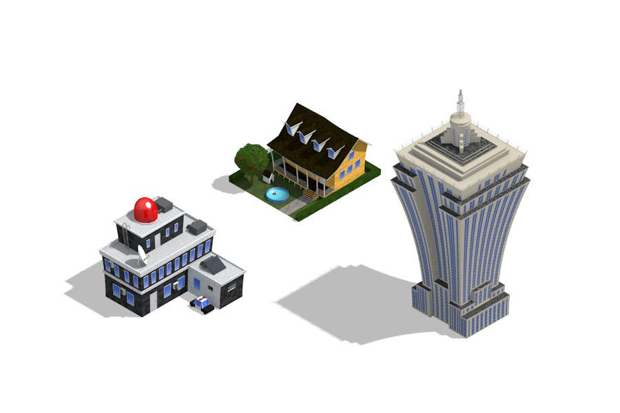 Contest Entry #                                        17                                      for                                         100 isometric building designs for iPhone/Android city building game