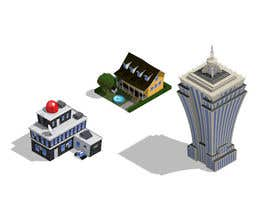 #17 para 100 isometric building designs for iPhone/Android city building game de Antir