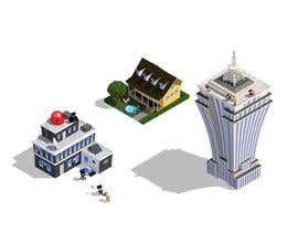 #25 para 100 isometric building designs for iPhone/Android city building game de Antir