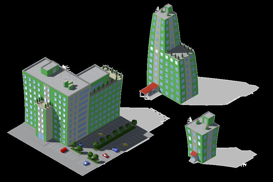 Contest Entry #                                        2                                      for                                         100 isometric building designs for iPhone/Android city building game