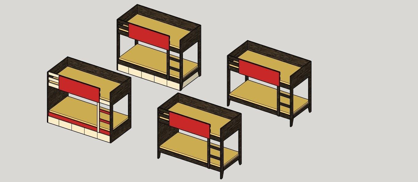 Penyertaan Peraduan #13 untuk IKEA Bunk Bed Hackathon - Mid Century Modern