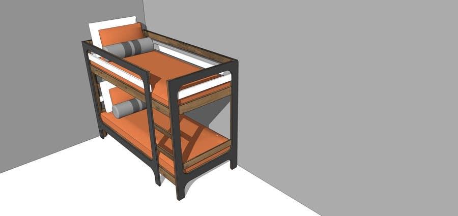 Penyertaan Peraduan #17 untuk IKEA Bunk Bed Hackathon - Mid Century Modern