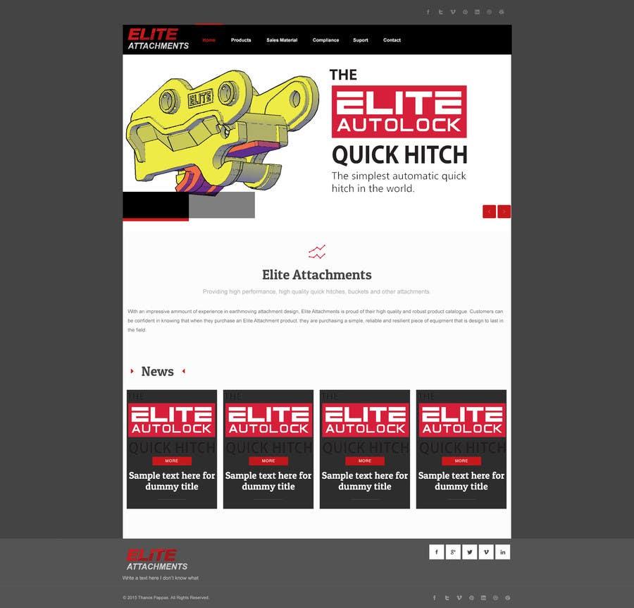 Konkurrenceindlæg #24 for Design a Website Mockup for Elite Attachments Website