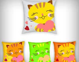 #21 untuk Print design on the cloth --cat toys square pillows oleh parikhan4i