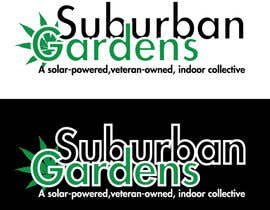 LynnN tarafından Logo Design for Suburban Gardens - A solar-powered, veteran owned indoor collective için no 55