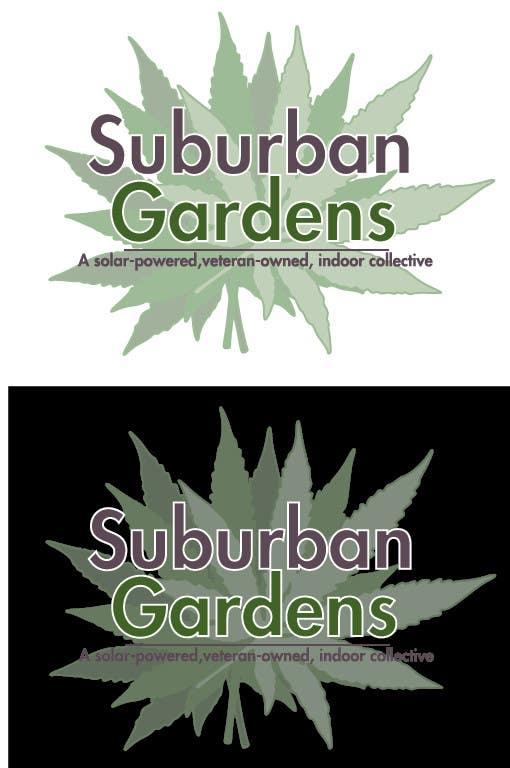 Contest Entry #                                        53                                      for                                         Logo Design for Suburban Gardens - A solar-powered, veteran owned indoor collective