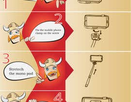 #7 untuk Re-make instructions on how to use a selfie stick oleh heitart