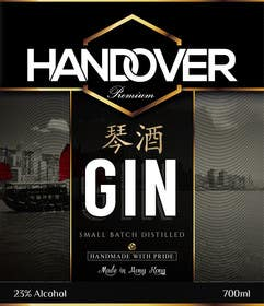 #188 untuk Design a Logo and bottle label for Handover Gin oleh chubbycreations