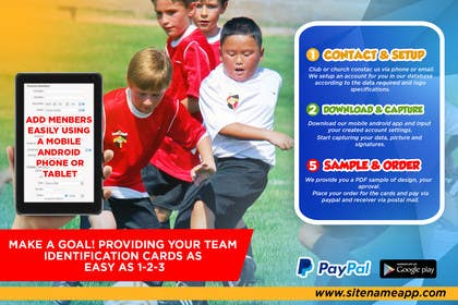 #21 for Design a 4x6 Flyer for Kids Soccer Club & Church identity cards af johanfcb0690