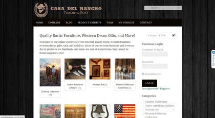 #32 untuk Design a Logo and Identity for Casa Del Ranch Trading Post oleh farooqshahjee