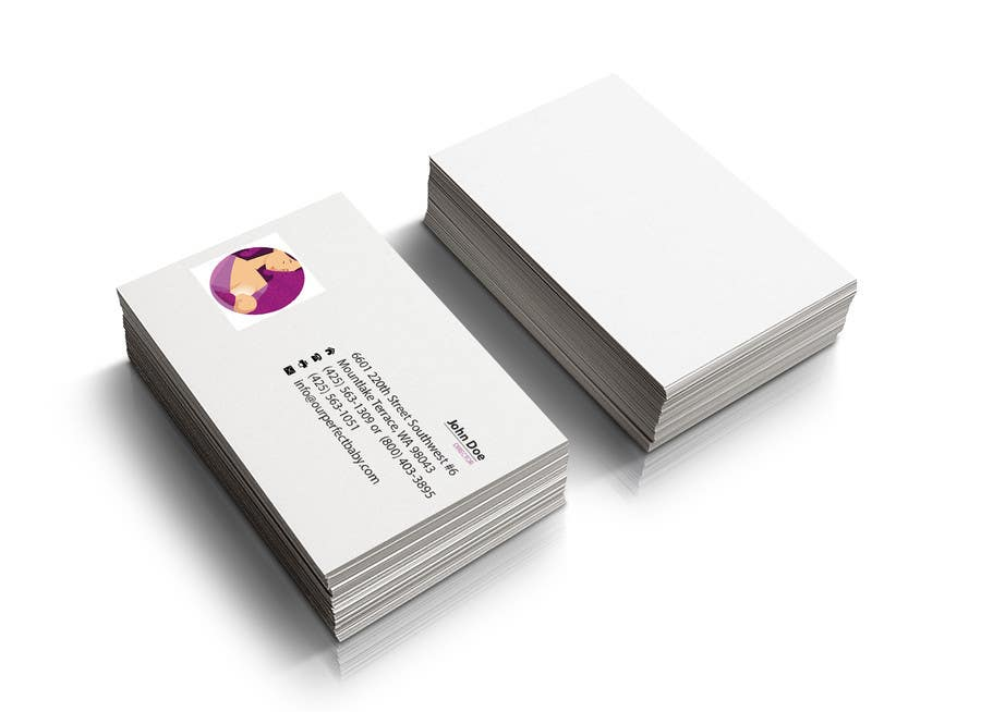 tri folded business cards - Template